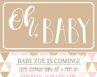 Baby Shower Invitation - Pink