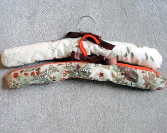 Padded handmade clothes hangers x 2