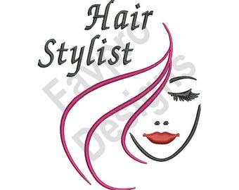 Hair Stylist - Machine Embroidery Design