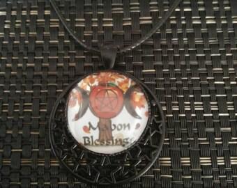 Mabon blessings triple moon pendant