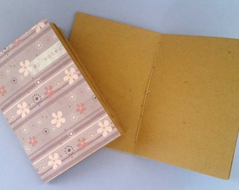notebook to collect notes inventive and recipes cooking textile made of paper placemats