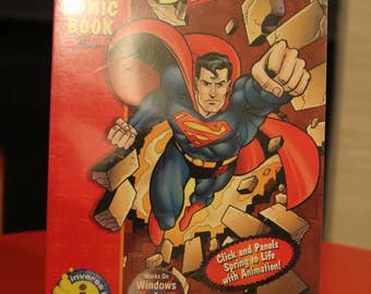 Superman Comic Book with CD Rom Vintage 1996 Mysterious Mr. Mist 1990s