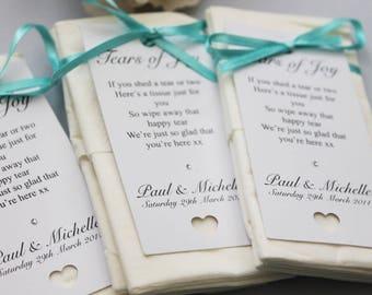 Wedding Tissues - Tears of Joy Wedding Favours - 5004