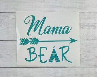 Mama Bear Decal, Yeti Decal, Ozark Decal, Car Decal, Laptop Decal, Tumbler Decal, Vinyl Decal, Mama Bear Mug Decal, Ipad Decal, Iphone Decal