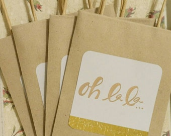 Personalized paper gift bags/shower favor bags