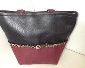 Bucket style tote handbag