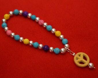 Silver plated boho bracelet