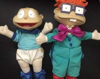Tommy Pickles and Chuckie Finster High Quality vintage Toy Dolls from TV Cartoon Rugrats