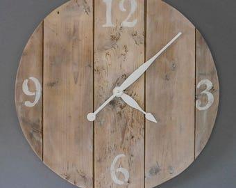 Big wooden 22'' wall clock