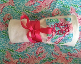 Lilly Pulitzer Short Sleeve Monogrammed Pocket Tee! Perfect for Spring!