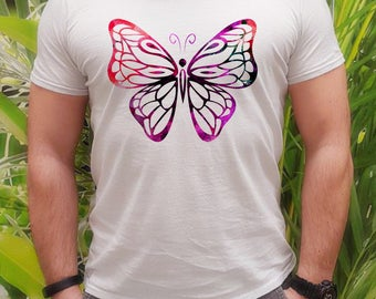 Butterfly t-shirt - Colorful tee - Fashion men's apparel - Colorful printed tee - Gift Idea