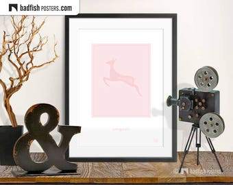 Belle Gazelle Print, Light Pink Poster, Antelope, Female Beauty, Springbok, Love Poetry, Digital Art, Wall Art, Girls Room, Gift, Animal Art