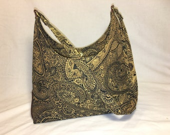 Gold and Black Paisley Purse