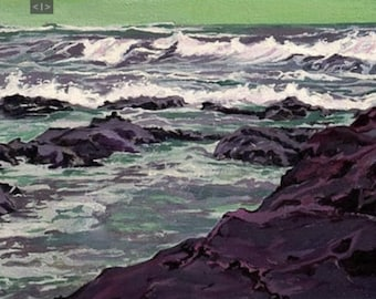 Commission a Custom Seascape - Oil Painting - Any seascape from a photograph - Seascape Painting by Karina Lapierre