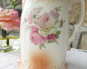 English Staffordshire Trafalgarware Pretty Vintage Floral Jug