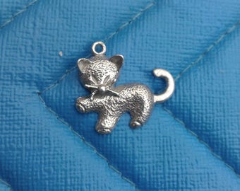 Sterling Silver Kitty Charm