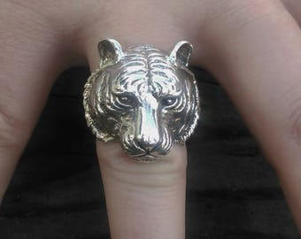 Sterling Silver Tiger Ring