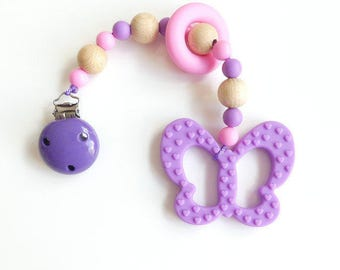 Biting chain Butterfly purple