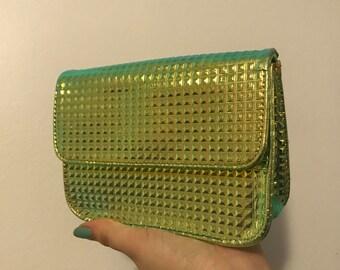 90's Iridescent Clutch Bag