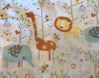 Fitted Crib Sheet Jungle Animals