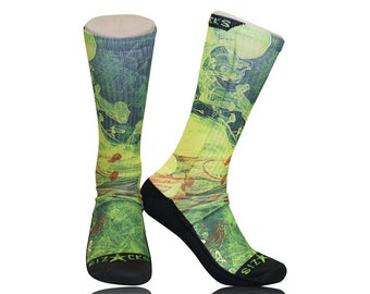 Handmade Sublimated Socks style RECOVERY