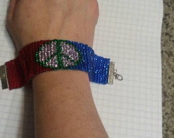 Come Together for Peace Hand Made bracelet
