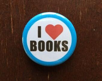 I Love Books Button