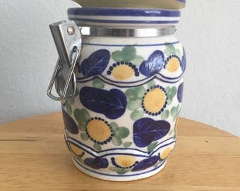Hand painted Vintage Jar