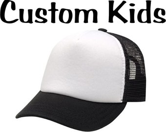 Customize Your Very Own Kids Trucker Hats