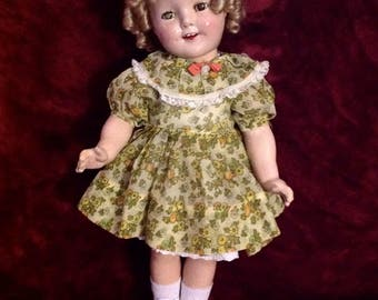 """1930s Shirley Temple Doll ~ 18"""""""