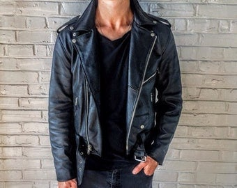 Black Leather Classic Motorcycle Jacket
