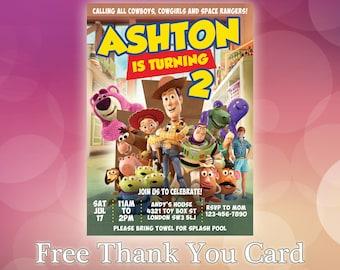 Toy Story Invitation / Toy Story Birthday Invitation / Toy Story Woody invitation / Buzz invitation / Toy Story Printable Invite / TS15