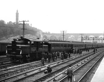 """1906 New York Central RR First Electric Vintage Photograph 8.5"""" x 11"""""""