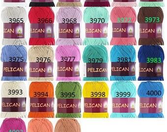 Cotton Yarn Mercerized cotton yarn Yarn for amigurami Amigurami yarn Hypoallergic yarn Crochet yarn Colorful yarn Summer knitting yarn