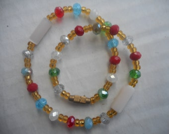 Medium size beaded ankle bracelet