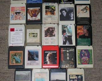 Lot 24 8 Track Tapes Jimi Hendrix Cars Lot E