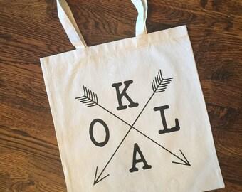 OKLA/Oklahoma/Mom/Mother Canvas Tote Bag
