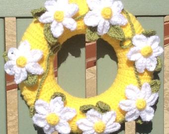 Daisy Chain Wreath Crochet Kit