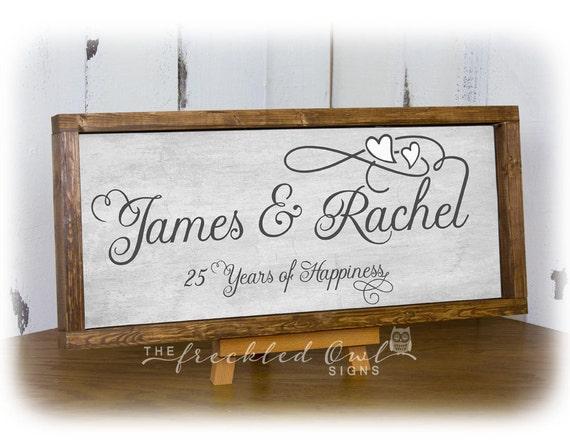 Twenty Fifth Wedding Anniversary Gifts: 25th Anniversary Gift Silver Anniversary Gift 25 Years Of