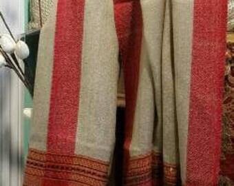 Soft wool scarf/oversized scarf/tribal wool scarf/wool wrap