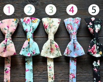 Butterflies necktie, Bow ties, Floral bow ties, Mens accessories, Blue bow tie,Pink bow tie,Cream bow tie,Black bow tie
