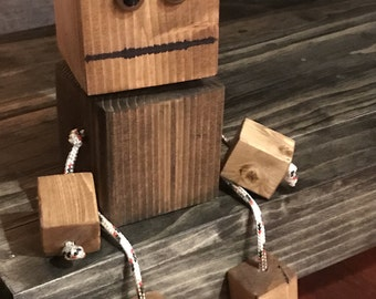 Wood block robot - Scrappy