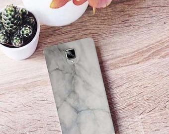 Grey marble case OnePlus 3, gray case, OnePlus 3 case, OnePlus 3T case, One case, OnePlus X case, marble case, marble OnePlus X case, One