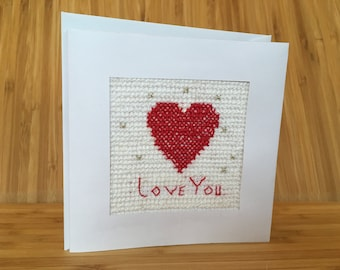 Handmade Cross stitch Greeting Card