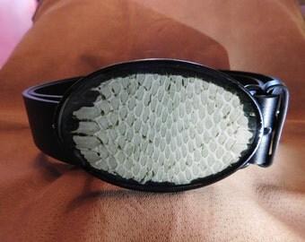 Grey/Sage Snake Skin Buckle