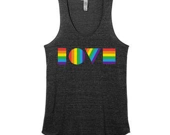 LGBT LOVE Shirt | Women's Tank Top | LGBTQ Tank Top | Gay Pride Tank Top | Equality March Shirt | Pride March Tank Top | Love Is Love