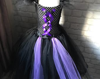 Black fairy style tulle dress