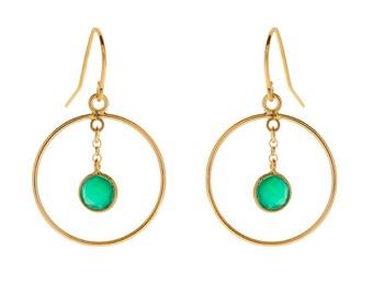 Earrings Green Iris