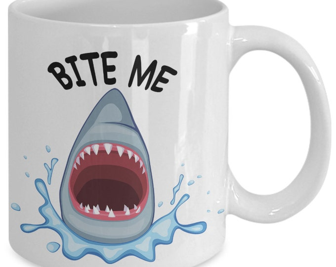 Featured listing image: Scuba Diving Gift for Scuba Diver - Funny Mug for Scuba Divers and Others - Scuba Diving Mug - Bite Me