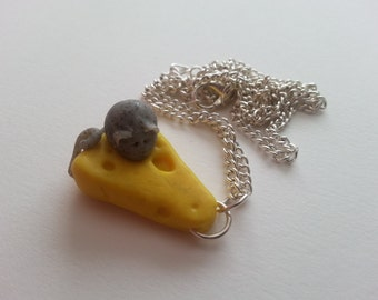 Cheese and Mouse Necklace